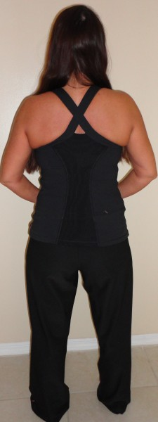 lucy activewear yoga pants and x-back tank top