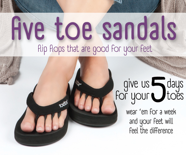 41400f961e38 Toe Sox Five Toe Sandals Review